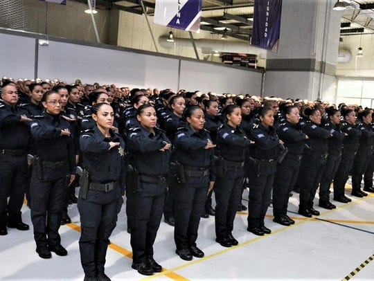 Juárez added 265 new police officers during a ceremony