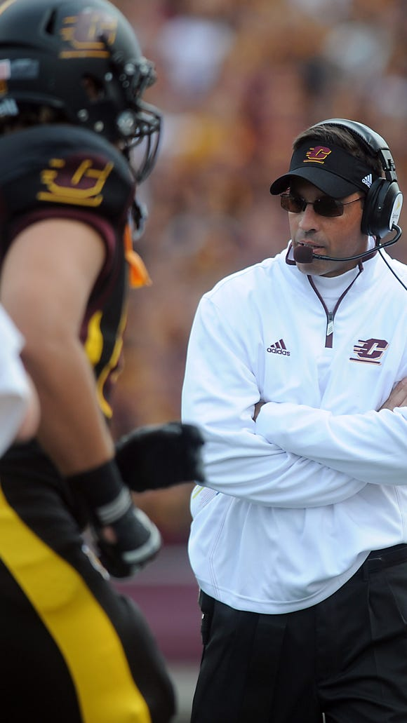 Dan Enos, here coaching against MSU in 2012, finished
