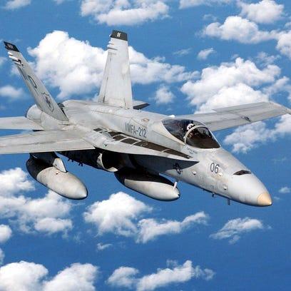 Marine Corps jet crashes in California desert