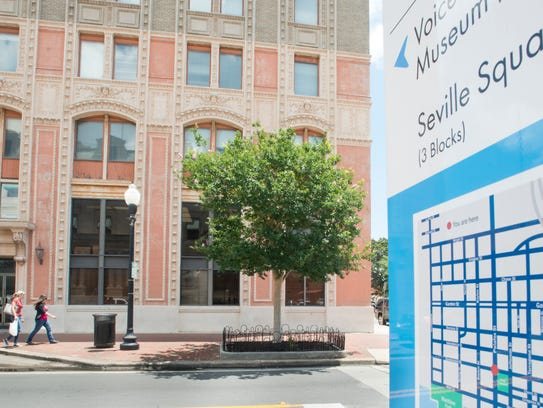 The Seville Tower at 226 Palafox Place in downtown