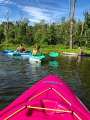 Kayaking on the Great Swamp in Patterson, NY.