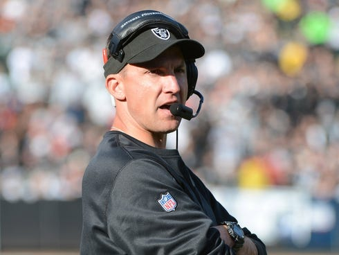 Coach Dennis Allen has led the Oakland Raiders to a 4-11 record this season.
