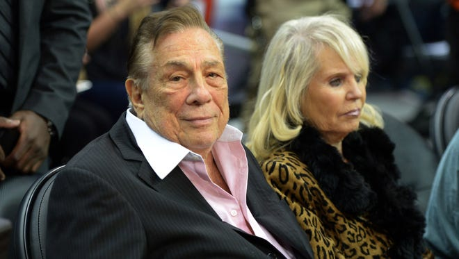 Los Angeles Clippers owner Donald Sterling and wife Shelly Sterling.