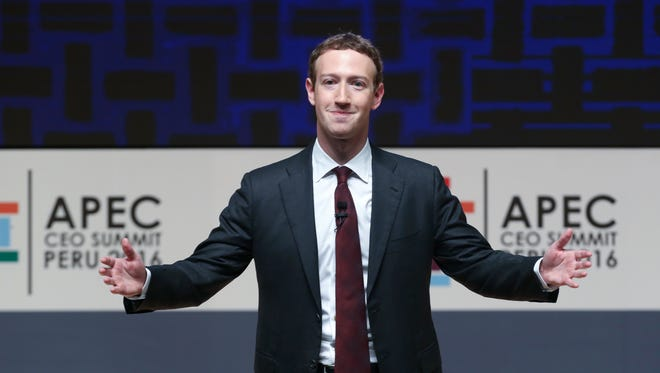 Mark Zuckerberg in Lima, Peru, on Dec. 19, 2016.
