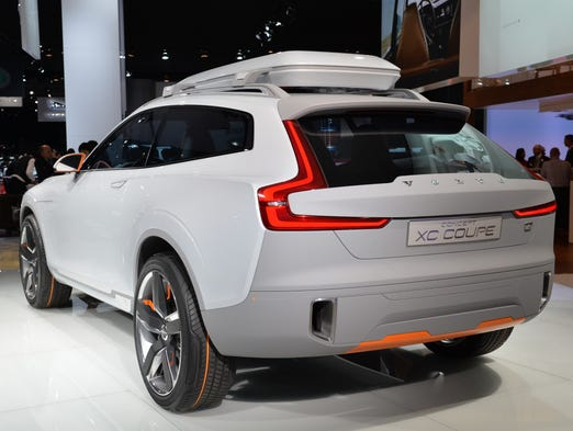 The Volvo XC Coupe concept plug-in hybrid is seen during a press preview at the North American International Auto Show
