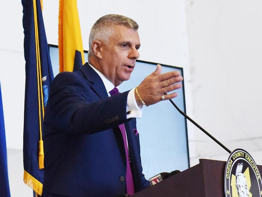 Oneida County Executive Anthony J. Picente Jr. speaks during an announcement in 2019. Picente said that if COVID-19 numbers in the county jump, the phased-in reopening will go on pause.