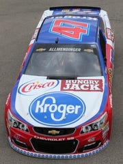 AJ Allmendinger's No. 47 Kroger/Hungry Jack/Crisco Chevrolet will start 20th in Sunday's NASCAR Sprint Cup race after a lap of 196.490 m.p.h.