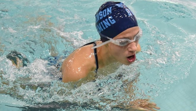 Stevenson's Grace Droz finished second in the 100-yard breaststroke.
