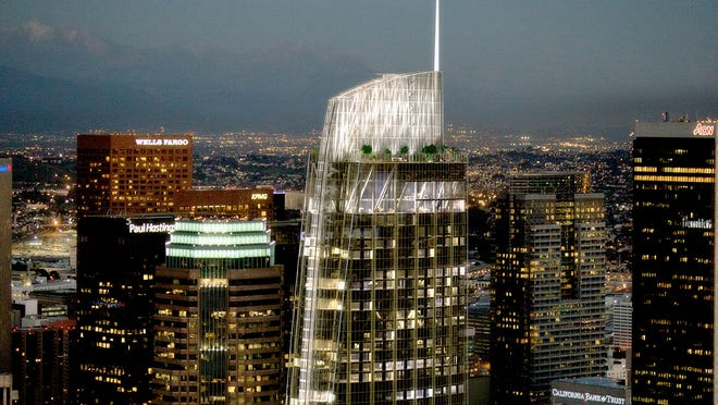 The final design of the New Wilshire Grand for downtown Los Angeles.
