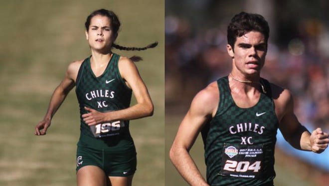 Chiles senior Ana Wallace and Michael Phillips were both named the 2017-18 Gatorade Florida Cross Country Runners of the Year after respective dominating seasons.
