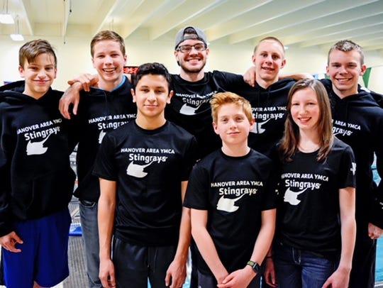 Members of the Hanover YMCA Stingray swim team members
