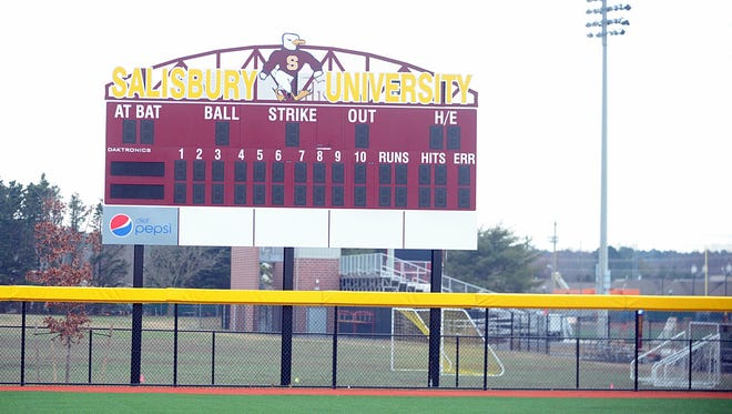 Salisbury University's new Sea Gull Softball Stadium is near completion.
