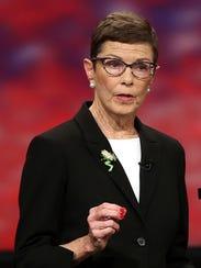 Democrat Marguerite Willis participates in a debate