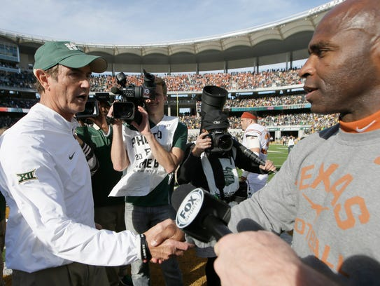 Baylor coach Art Briles (left) has the Big 12's top