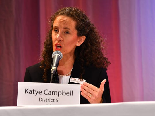 Katye Campbell won her Brevard School Board race Tuesday night.
