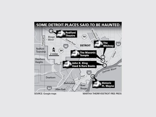Five of the many places in Detroit that are thought