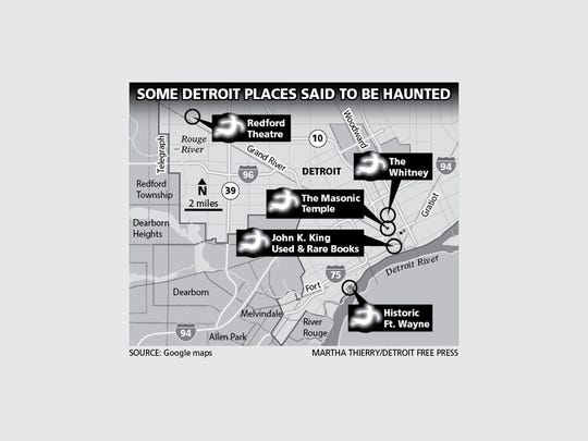 Five of the many places in Detroit that are thought to be haunted.
