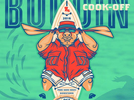The official 2016 Boudin Cook-Off poster