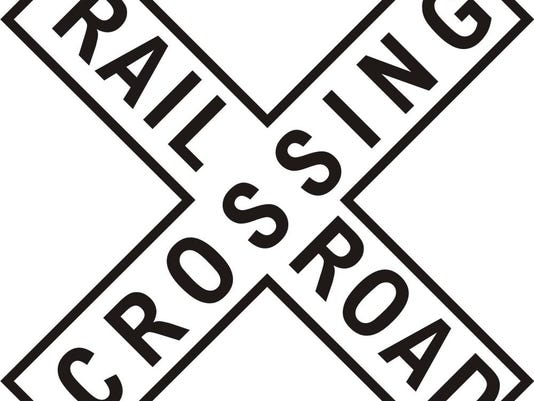 railroad-crossing sign