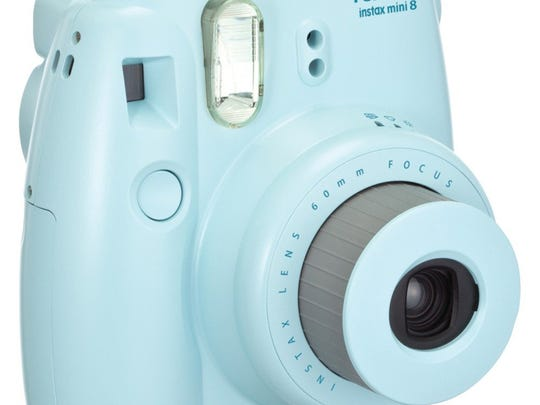 The Fujifilm Instax Mini 8 comes in a rainbow of colors. It  prints photos immediately.