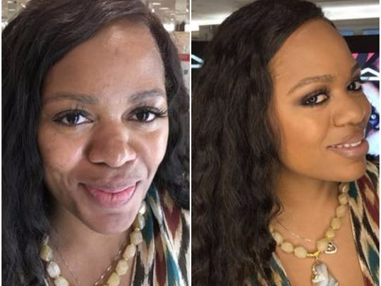 Tysharda Thomas, before and after, a makeover with