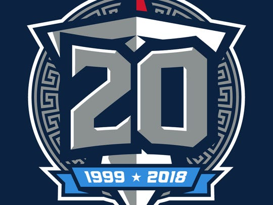 The Titans are planning to wear this logo as a small