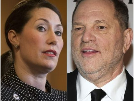 Alison Grimes and Harvey Weinstein.