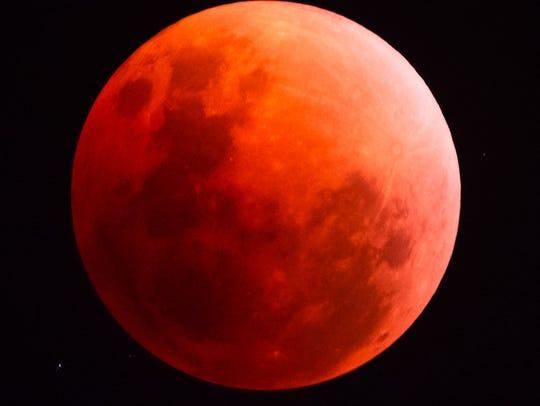 The super blood moon on Jan. 31.