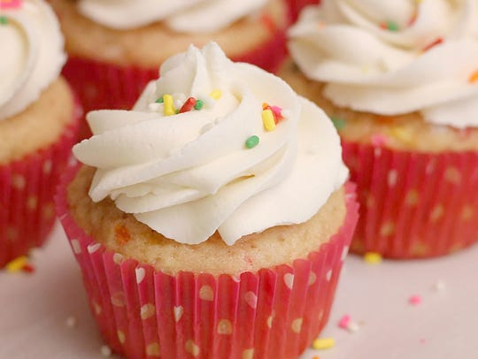 Vegan cupcakes by Positively Frosted.
