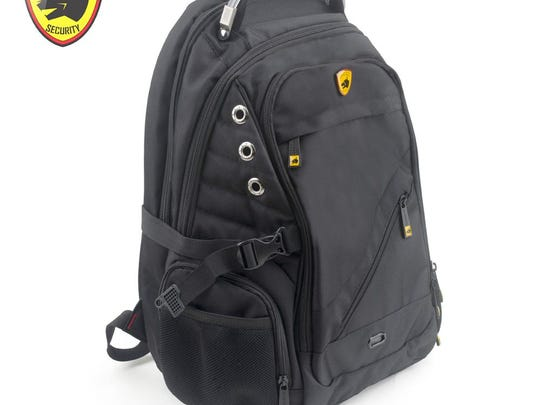 This undated image shows Guard Dog Security's ProShield II bulletproof backpack