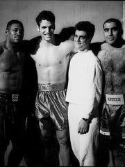 Alonzo Highsmith, training partner Lou Savarese, manager Bob Spagnola, Mohamed Abdeen.