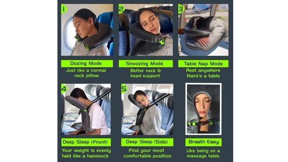 The FaceCradle travel pillow.