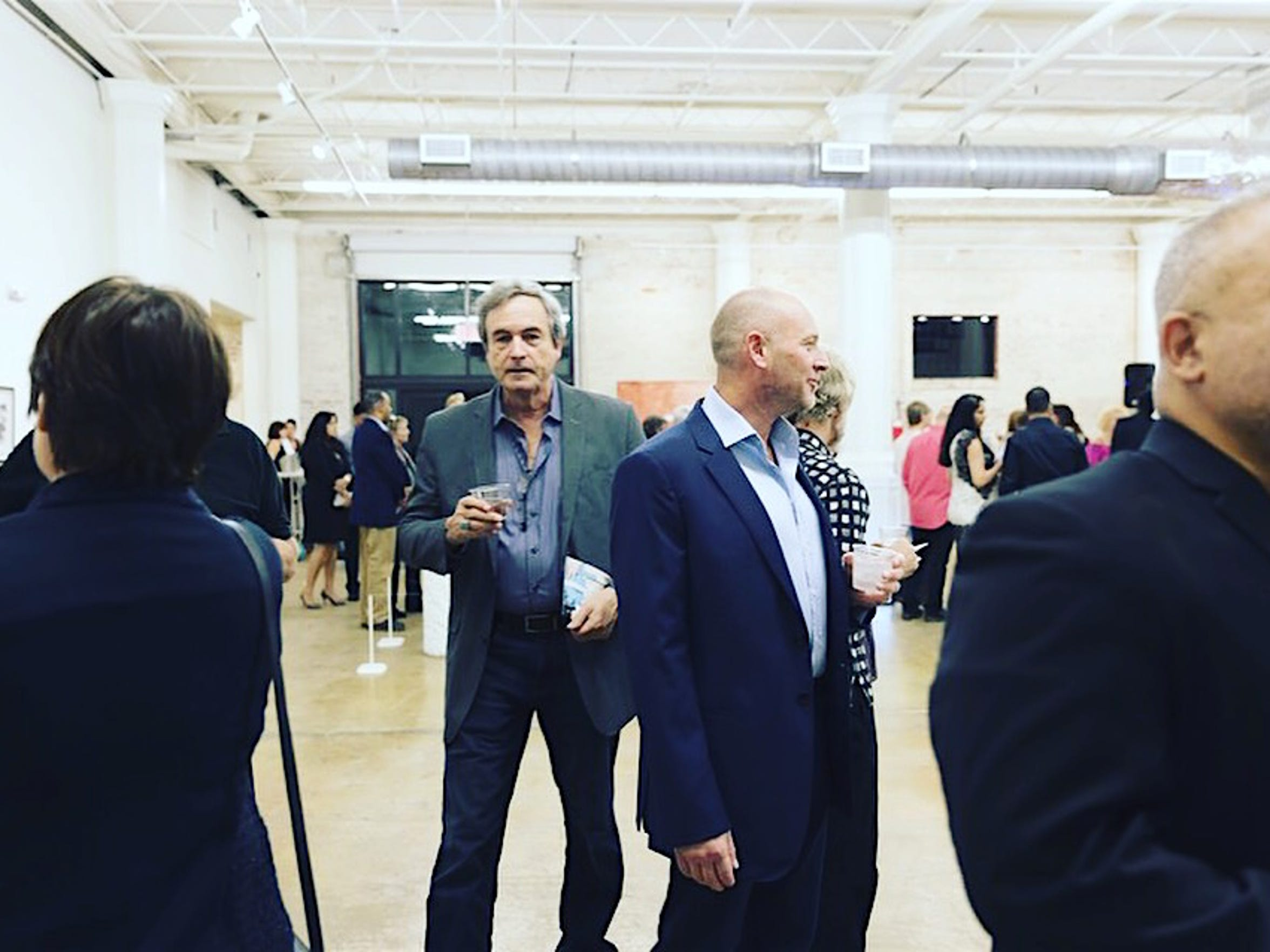 Art lovers flock to the opening of the new gallery