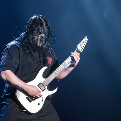 Mask-wearing metal band Slipknot will top the bill