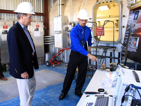 Tom Udall at White Sands Test Facility