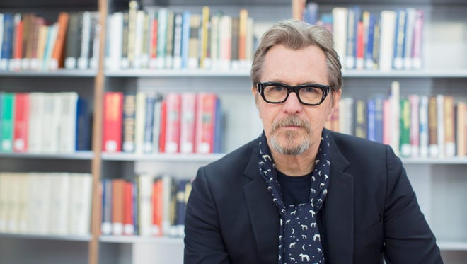 Gary Oldman visits the National Churchill Library and Center on Nov. on Nov. 3, 2017.