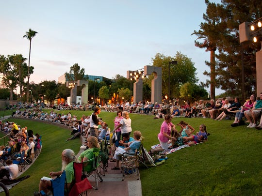 The Glendale Summer Band plays a free concert of patriotic tunes at Murphy Park Amphitheater in Glendale.