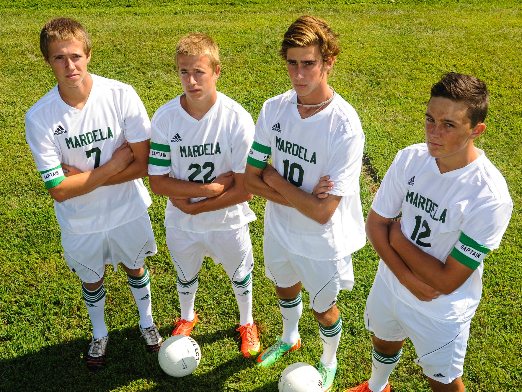 Mardela High's senior captains Shawn Pope, Will Pope, Mike Momme and Austin Gray will look to lead the Warriors even further in the Maryland state tournament this season. The team fell in the semifinals last year to North Carroll.