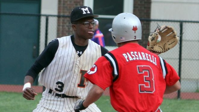 Mamaroneck defeated Fox Lane 4-1 in a varsity baseball game at Mamaroneck High School April 28, 2016.