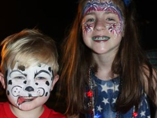 Maddox Martin and Lily Herrick are in the July 4 spirit
