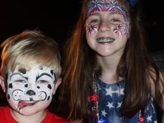 Maddox Martin and Lily Herrick are in the July 4 spirit at the Sarepta celebraton.