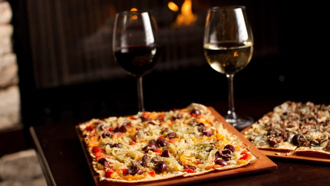Flatbread pairs with red or white at Harvest Seasonal Grill.