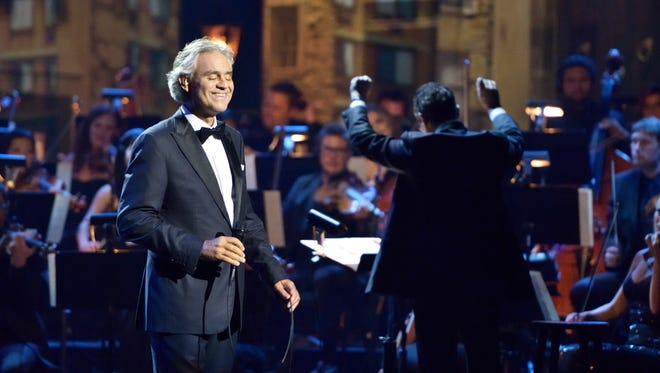 'Great Performances' Andrea Bocelli: Cinema' shows the singer in a movie-song mood.