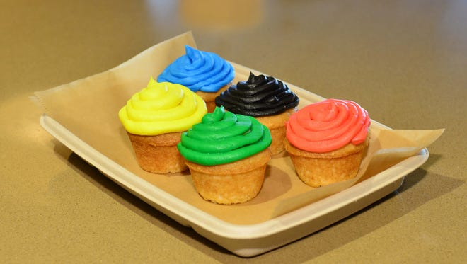 Rio Cakes frosted with the Olympic colors will be sold to honor Diana Taurasi and Brittney Griner at the Rio summer games.