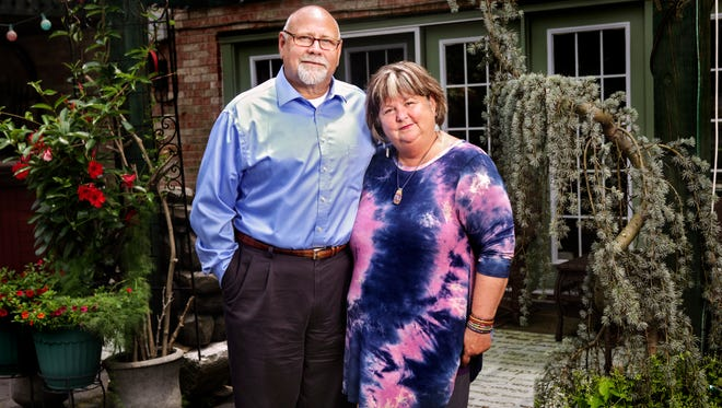 Phil Gunning, left, and wife Kelly Gunning's son was diagnosed with paranoid schizophrenia in his early teen years. After struggling in to his adulthood with delusions about his own mental health and believing he needed medication, their son came in to their home and attacked his parents for believing they had intercepted a check made to him. A bill recently passed by the House Health and Welfare Committee will allow mentally ill Kentuckians to be ordered by judges into outpatient medical treatment and caseworkers to monitor their daily progress and adherence to treatment. June 23, 2016