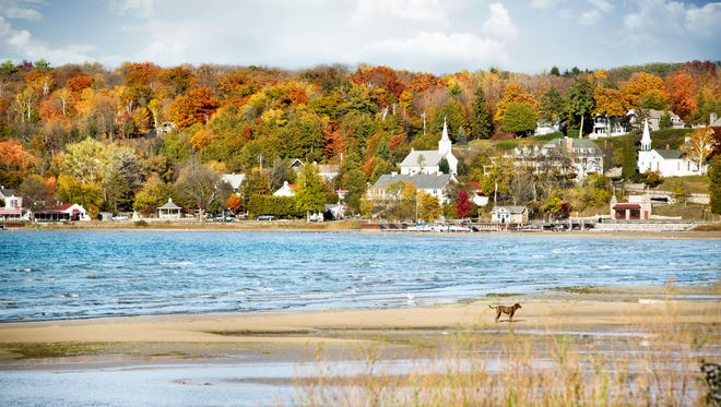 Door County's scenic harbor towns are even more beautiful in the fall.