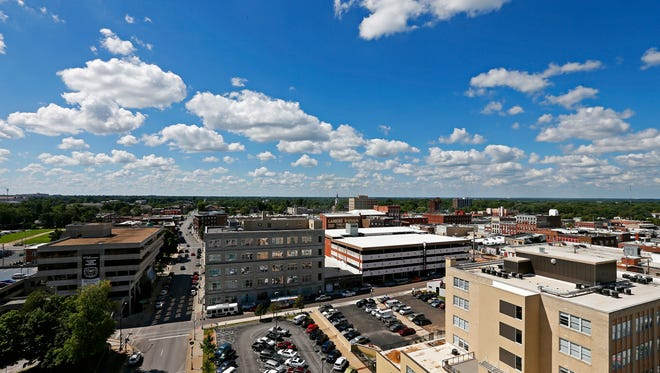 Springfield is one of the top 10 most affordable cities for sales workers, apartment search service ADOBO said in a report issued Jan. 12, 2018. The view from Sky Eleven's rooftop as seen during a tour of the premises in downtown Springfield, Mo. on Aug. 12, 2015.