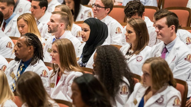Photo of  Florida State University College of Medicine White Coat Ceremony in 2017.