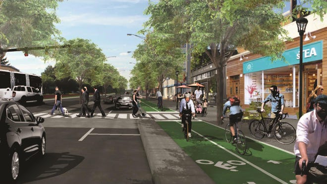 Rendering of Woodward Ave from Oakridge Ave. to Washington Ave and the area north of I-696 through the city of Pleasant ridge.Woodward Avenue complete streets has a vision for Woodward Avenue to be a complete street that provides safe and efficient means of travel for all users; creates excellent quality of place that benefits local residents; builds value for property; and inspires vistors to return.