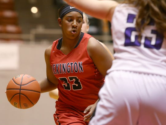 Lexington's Kyla Taylor (33) can go off for 20-25 points per game, and at times she has recorded double-digit rebounds.